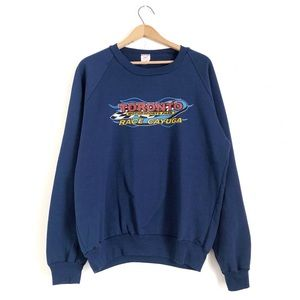 Vintage Graphic Drag Racing Sweatshirt Cayuaga